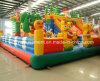 Gorila inflable de salto de la casa del recorrido feliz animoso inflable grande