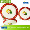 16PC Porcelain Decal Christmas Design Dinner Set (616032)