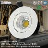 LED COB 16W Cutout 90mm Ce LED Downlight RoHS van Adjustable COB