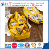 Bean irregular Shaped Chocolate Tin Food Container con Foam