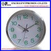 12inch luminoso Logo Printing Round Plastic Wall Clock (EP-Item12)