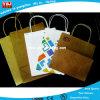 Bolso de compras negro reutilizable de encargo del papel revestido de la venta directa caliente de la fábrica, bolsa de papel linda impresa para la promoción