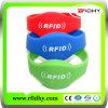 Bracelete do PVC do Wristband de RFID para Bilhetes Individuais no Parque de Diversões