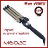 Encrespador de cabelo superior do indicador do LCD do revestimento do Tourmaline das vendas de M602c