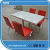 Chair를 가진 호텔 Furniture Pure White Stone Table