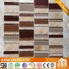 Коричневатая стеклянная мозаика и тонкие плитки для стены (M555016)