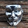 Argento sterlina V degli uomini per l'anello dell'involucro della mascherina di faida