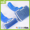 Productos plásticos azules de la preparación del animal doméstico del cepillo