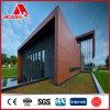 panneau composé en aluminium/matériaux de mur intérieur de PE de 4mm avec la finition en bois