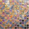 Teja vidrio cristalino del mosaico Mezclado inoxidable Stess de revestimiento de la pared (FYDJ-4823Q)