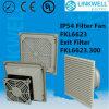 Ventilador axial branco de IP54 RoHS com filtro (FKL6623)