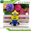 Muestra Gratis Amarillo Minion PVC USB Flash Drive de 8GB