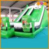 Corrediça padrão dobrada inflável gigante do verde do futebol da corrediça (AQ952-3)