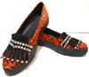 Marca de fábrica de China de la muestra libre Chengdu 2016 la mayoría zapatos de goma de Famale Snakeskin Casusal de la tapa de la venta al por mayor del estilo de la manera de los únicos con las borlas