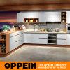 Da estratificação branca clássica do plano de Oppein armário modular da cozinha (OP15-038)