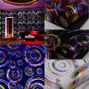Brillo colorido de la venta caliente que se reúne el papel pintado (JSL163-002)
