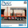 Semi acoplado de madera del carro del transporte del acoplado del cargo
