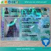 Cartão esperto do PVC da película RFID do laser do holograma