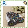 Étiquette en caoutchouc molle adhésive d'étiquette en caoutchouc de chaussures (JP-PL013)