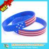 Bracelet olympique de drapeaux de pays de bracelets de silicone de bracelet brésilien de drapeau