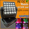 Éclairage principal mobile de faisceau de LED Matrix 25*12W RGBW 4in1 LED Matrix