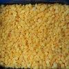 I dadi gialli della pesca di IQF, fetta, dimezzano, pesca gialla congelata