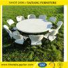 Складной столик Китая белый пластичный круглый
