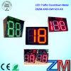 Alto temporizador luminoso certificado En12368 de la cuenta descendiente de Digitaces 0-99 del tráfico 2 del LED/temporizador de la cuenta descendiente