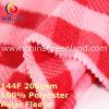 Tela polar hecha punto poliester del paño grueso y suave de la impresión para la capa de la ropa (GLLML397)