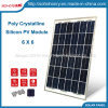Poli comitati cristallini di energia solare di potere verde (10W 20W 25W 6X6)