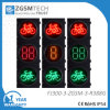 Bicyclette verte rouge-clair de signal de DEL Bicycleway avec le compte à rebours de trois couleurs