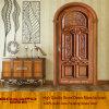 Portello intagliato incurvato di legno solido per la villa (GSP2-038)