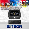 Peugeot 206 (W2-C085)를 위한 GPS를 가진 Witson Car DVD Player