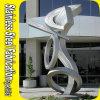 Sculpture abstraite en acier inoxydable en ingénierie personnalisée dans les métiers du métal
