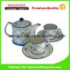 Perfezionare l'insieme di tè di ceramica cinese di disegno con il reticolo floreale