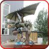 Statua del drago del giardino del dinosauro del parco di divertimenti