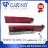 Glissières de tiroir de système de tiroir (alliage d'aluminium)