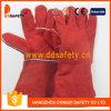 Перчатка заварки красной коровы Split кожаный (DLW622)
