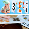 Juguete del rompecabezas del tablero de papel del número del bebé