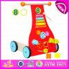 Baby Wooden Walker Wagon oder Trolley Toy für Toddler, Wooden Trolley Toddler Wobbler Rabbit Wagon W16e043