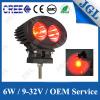 CREE bleu rouge 6W d'endroit lumineux de travail de l'avertissement DEL