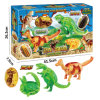 Pädagogisches Dinosaurier-Ei-Deformations-Tier-Plastikspielzeug