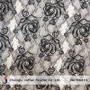Прелестно черная ткань шнурка Rose (M0419)
