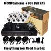 8 CCD&DVR CCTV 장비 기록병 (SV60-DK08W242)