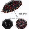 Sonnenschutz-Sonnenschirm-Regenschirm-Regen Kreativ-Regenschirm Anti-UVblumen-Druck der schönheits-3D