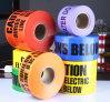 Kundenspezifisches Drucken PET Sperren-Band-Achtung-warnendes Band