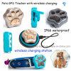 2017 Nuevo GPS impermeable mascotas Tracker dispositivo con carga inalámbrica