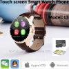 Rundes Touch Screen Smart Watch Phone mit SIM Einbauschlitz