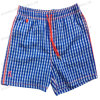Miss Adola Simple Blue Plaid Printing Beach Short Pants (4016)