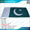 90X180cm 160GSM Spun Polyester Paquistão Flag (NF05F09032)